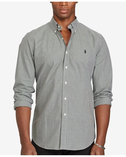 Polo Ralph Lauren - Black Checked Poplin Shirt for Men - Lyst