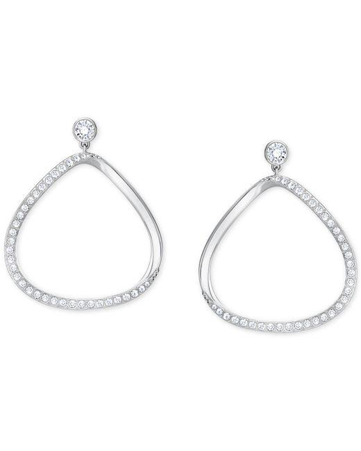 Swarovski | Metallic 5279795 Gaya Pierced Earrings - White | Lyst
