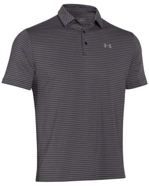 Under Armour - Gray Playoff Striped Performance Polo for Men - Lyst