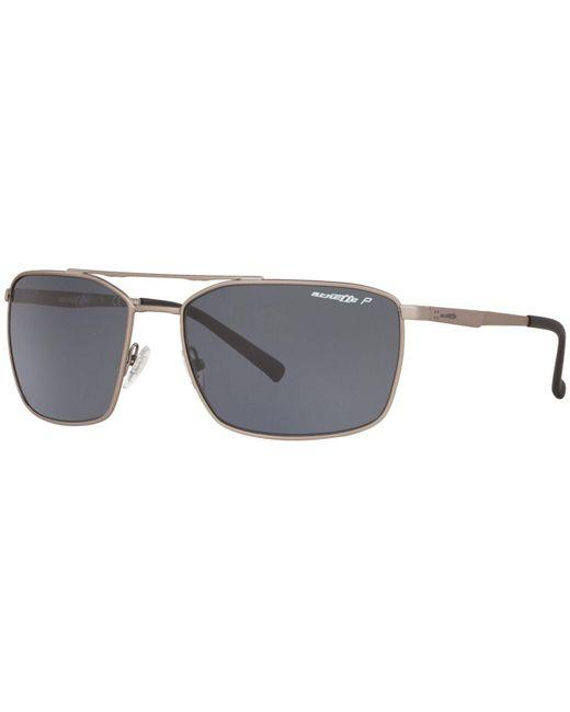 Arnette Gray Polarized Sunglasses, An3080 62 Maboneng for men