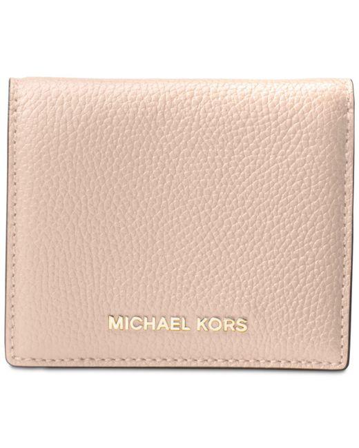Michael Kors | Pink Mercer Flap Card Holder | Lyst
