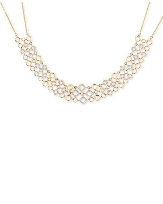 Wrapped in Love - Metallic Diamond Collar Necklace (1 Ct. T.w.) In 14k Gold - Lyst