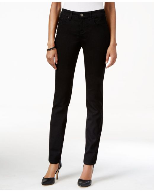 Style & Co. Black Petite Curvy-fit Skinny Jeans, Created For Macy's