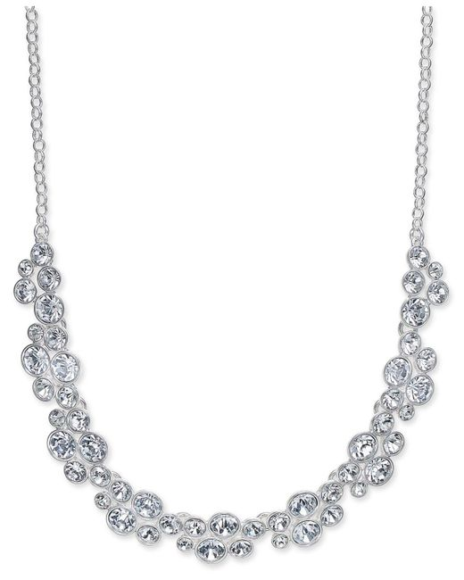 Charter Club | Metallic Silver-tone Crystal Necklace | Lyst