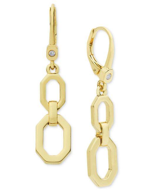 Ivanka Trump - Metallic Lever Back Double Drop Earrings - Lyst