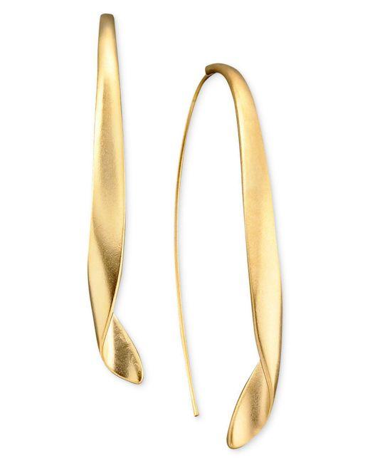 Kenneth Cole - Metallic Earrings, Gold-tone Drop - Lyst