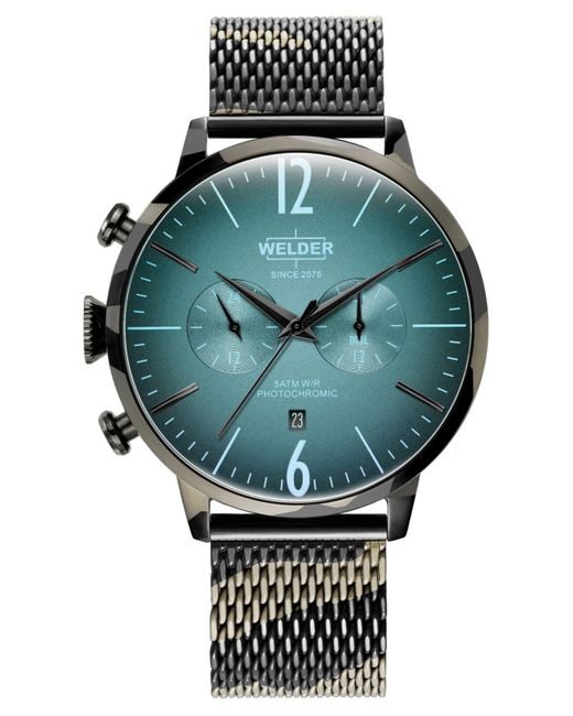 Welder Multicolor Camo Stainless Steel Mesh Bracelet Watch 47mm for men