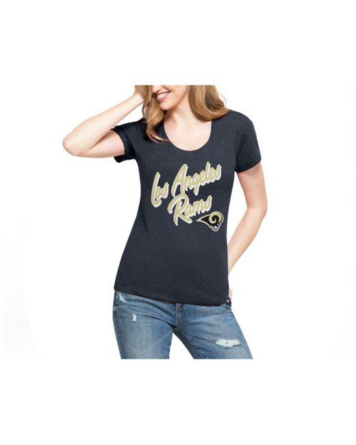 47 Brand | Blue Women's Club Script T-shirt | Lyst