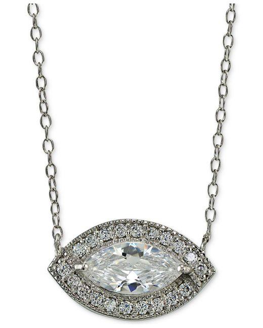 Giani Bernini   Metallic Sterling Silver Cubic Zirconia Pendant Necklace   Lyst