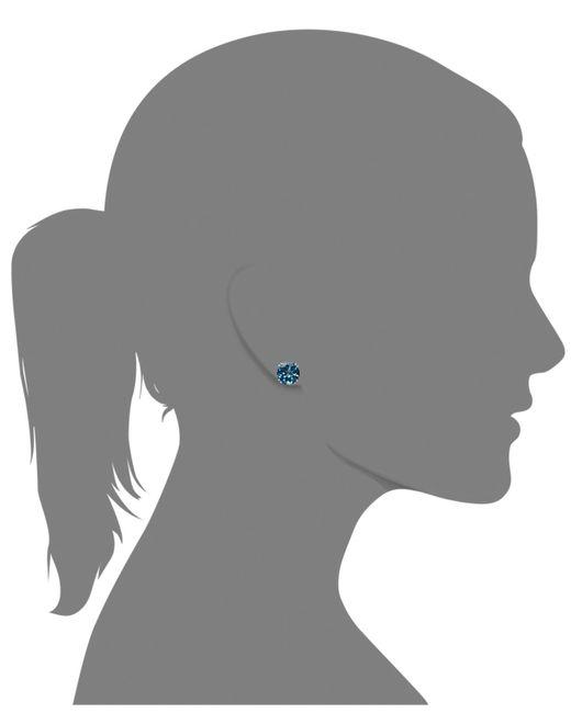 Macy's 14k White Gold Earrings, London Blue Topaz Stud Earrings (4-1/2 Ct. T.w.)