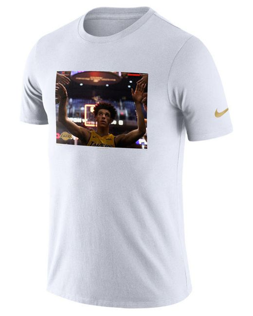 Nike - White Lonzo Ball Los Angeles Lakers Rookie Photo Reel T-shirt for Men - Lyst