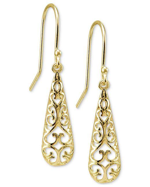 Giani Bernini | Metallic Filigree Drop Earrings | Lyst