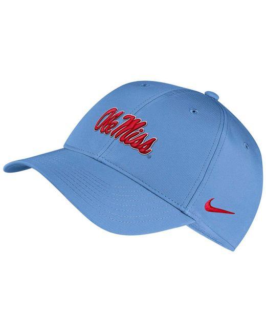 9fec7c71d42 Nike - Blue Ole Miss Rebels Dri-fit Adjustable Cap for Men - Lyst ...