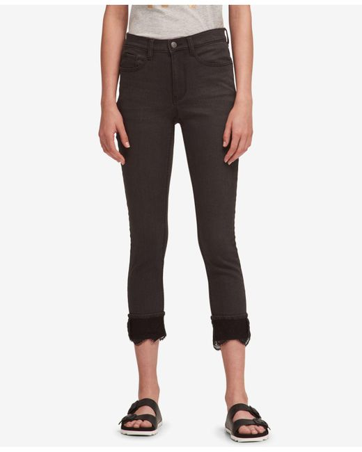 DKNY - Black Lace-cuff Everywhere Skinny Jeans, Created For Macy's - Lyst