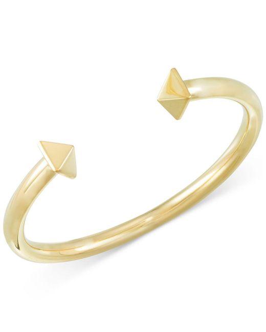 Macy's | Metallic Pyramid Stud Open Cuff Bracelet In 14k Gold Vermeil | Lyst