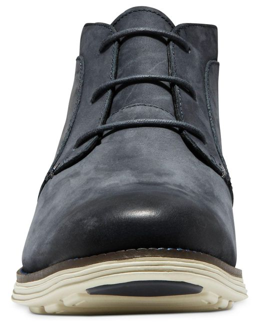 sells cheapest real deal Cole Haan Leather Øriginalgrand Chukka Boots in Ombre Blue ...