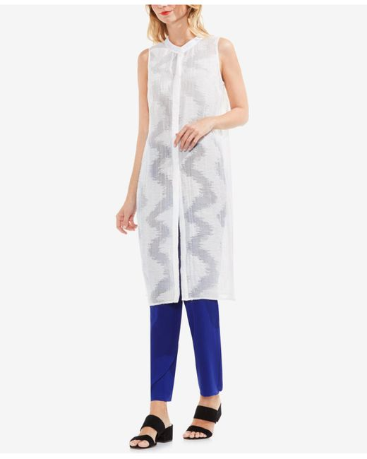 Vince Camuto | White Jacquard Tunic | Lyst