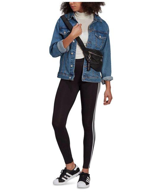 Adidas Black 3-stripes Full Length Leggings