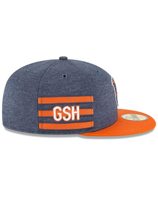 best service 938b4 1c576 ... KTZ - Blue Chicago Bears On Field Sideline Home 59fifty Fitted Cap for  Men - Lyst ...