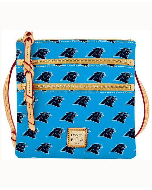 Dooney & Bourke - Blue Carolina Panthers Triple-zip Crossbody Bag - Lyst