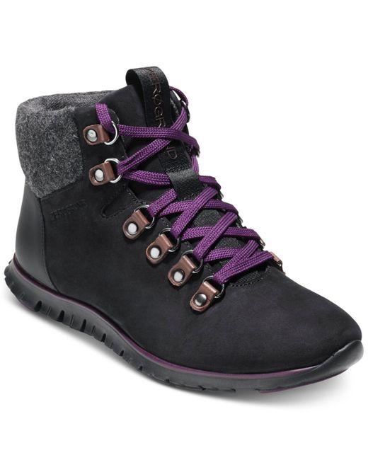 Cole Haan - Black Zerogrand Hiker Boots - Lyst
