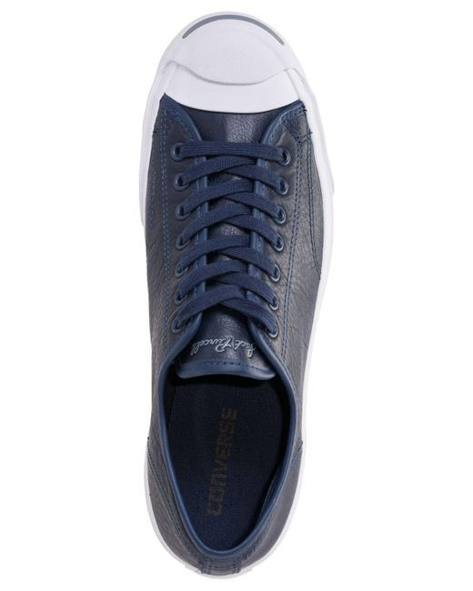d82c35aaa9ca51 ... Converse - Blue Jack Purcell Low-top Casual Sneakers From Finish Line  for Men ...