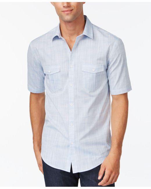 Alfani - White Warren Solid Textured Shirt for Men - Lyst