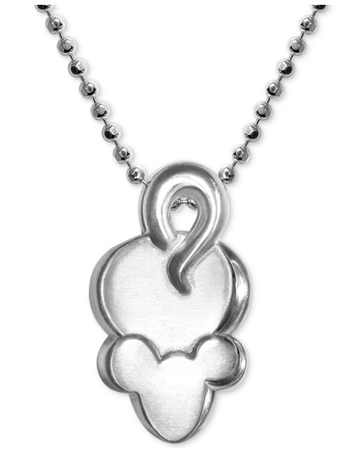 """Alex Woo - Metallic Mini Mouse Pendant 16"""" Necklace In Sterling Silver - Lyst"""