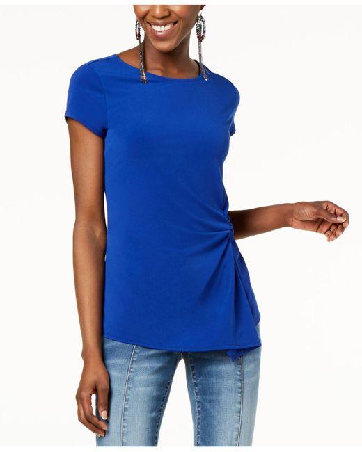 INC International Concepts - Blue I.n.c. Petite Asymmetrical-twist Top, Created For Macy's - Lyst
