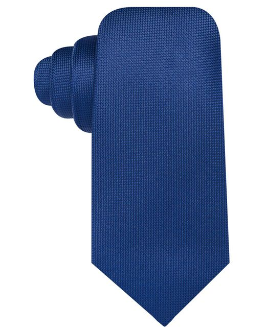 Countess Mara - Blue Pique Solid Tie for Men - Lyst