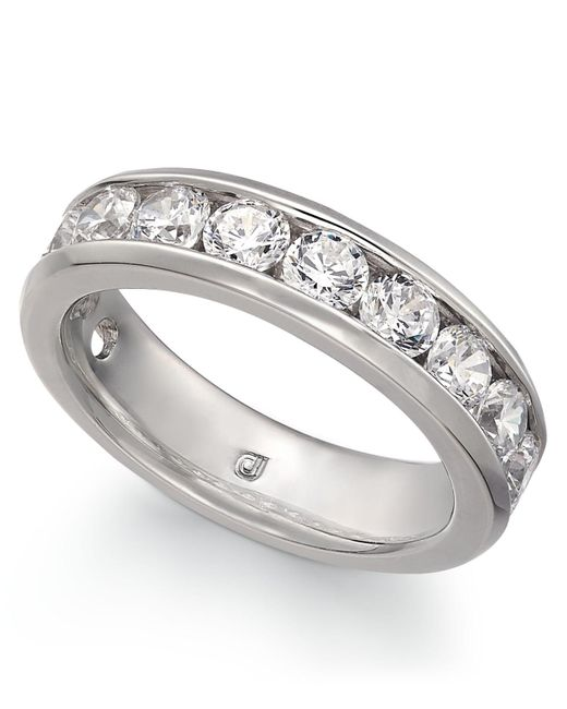 Macy's - Metallic Diamond Channel Band (2 Ct. T.w.) In 14k Gold Or White Gold - Lyst