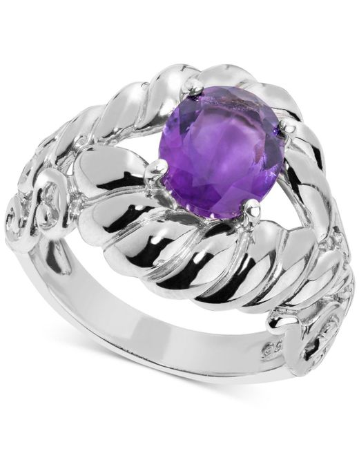 Carolyn Pollack - Metallic Amethyst Rope-style Ring (2 Ct. T.w.) In Sterling Silver - Lyst