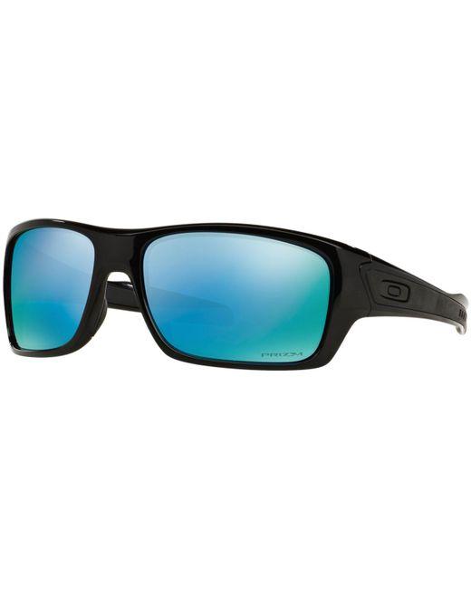 Oakley Black Polarized Polarized Sunglasses , Oo9263 Turbine Prizm Deep H2o for men