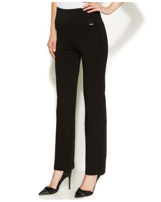 CALVIN KLEIN 205W39NYC - Black High-rise Straight-leg Compression Pants - Lyst