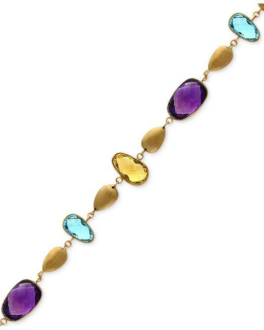 Effy Collection - Metallic Multi-gemstone (19-1/8 Ct. T.w.) Teardrop Bracelet In 14k Gold - Lyst