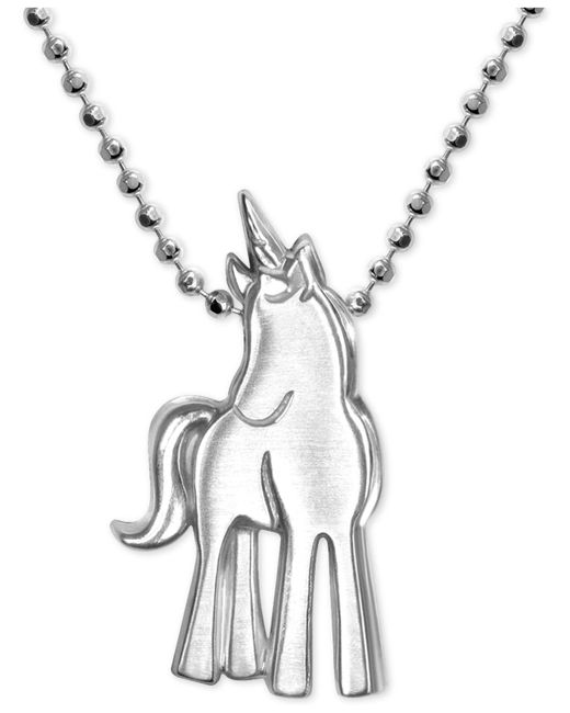 Alex Woo | Metallic Princess Unicorn Pendant Necklace In Sterling Silver | Lyst