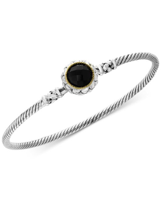 Effy Collection - Metallic Balissima By Effy® Onyx Bangle Bracelet In Sterling Silver & 18k Gold - Lyst