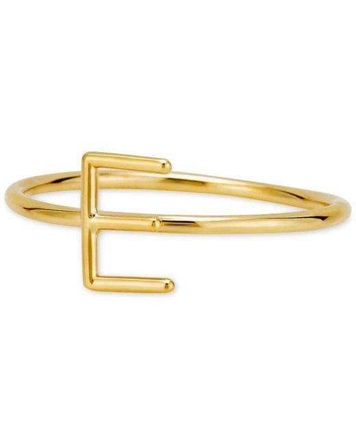 Sarah Chloe - Metallic Amelia Initial Monogram Ring In 14k Gold - Lyst