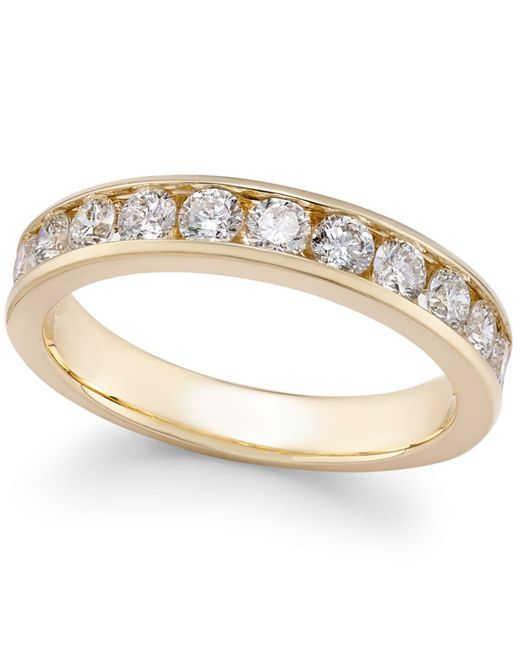 Macy's | Metallic Diamond Channel-set Band (2 Ct. T.w.) In 14k Gold Or White Gold | Lyst