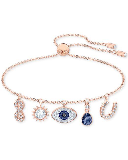 Swarovski Metallic Symbolic Rose Goldtone Crystal Bracelet