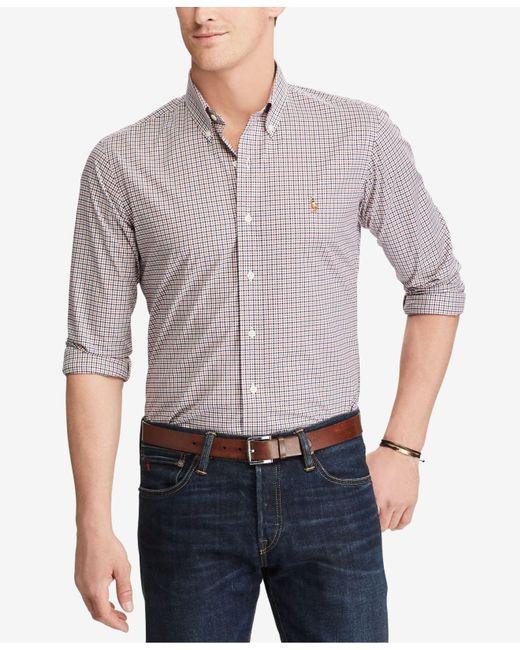 Polo Ralph Lauren | Blue Men's Slim Fit Cotton Shirt for Men | Lyst