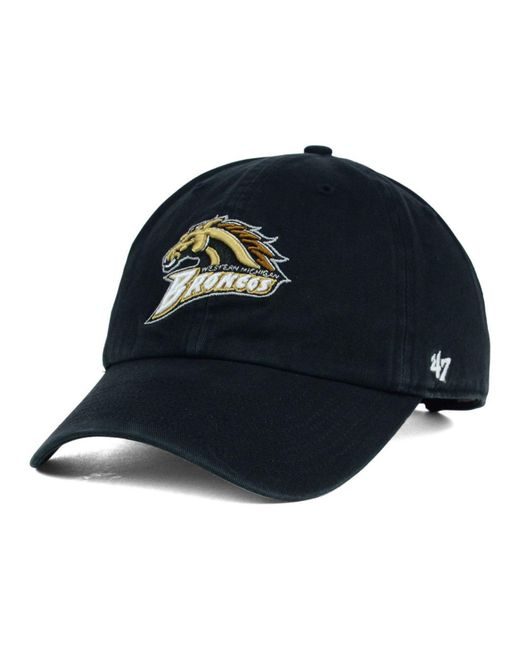 47 Brand - Black Michigan Broncos Clean-up Cap for Men - Lyst