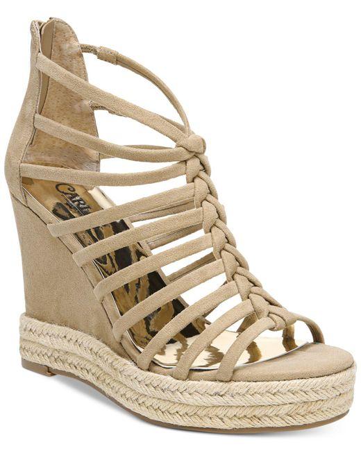 Carlos By Carlos Santana - Natural Camilla Platform Wedge Sandals - Lyst