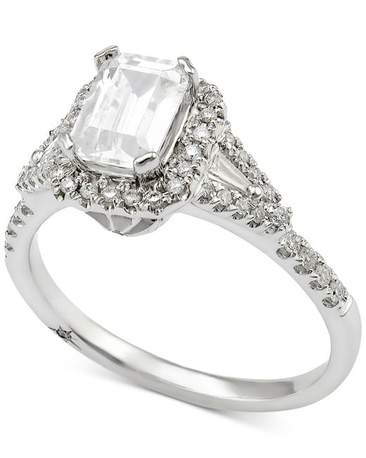 Marchesa - Metallic Diamond Engagement Ring (1 Ct. T.w.) In 18k White Gold - Lyst