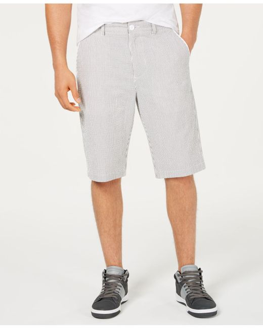 Sean John Gray Striped Shorts for men