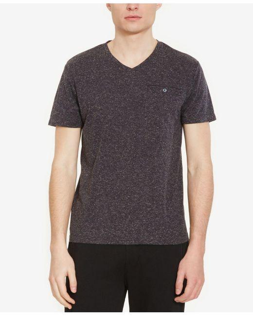 Kenneth Cole Reaction   Gray Men's Heathered V-neck T-shirt for Men   Lyst