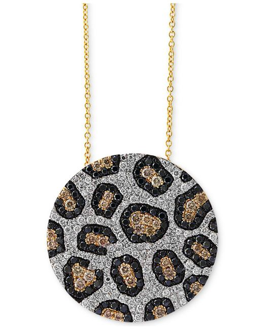 Effy Collection | Metallic Diamond Animal Pattern Pendant Necklace (1-3/4 Ct. T.w.) In 14k Gold | Lyst
