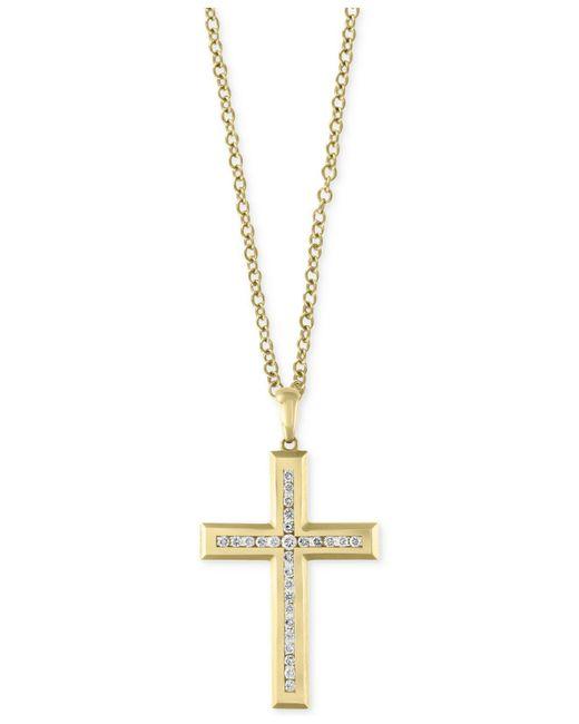 Effy Collection - Metallic Men's Diamond Cross Pendant Necklace (1 Ct. T.w.) In 14k Gold - Lyst