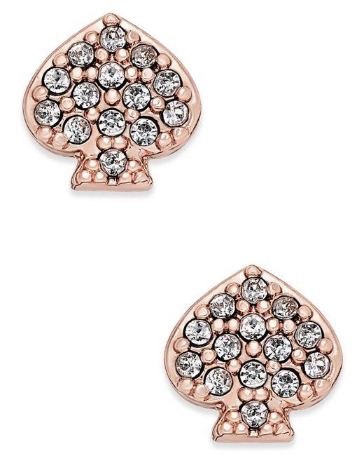 Kate Spade   Metallic Pavé Signature Spade Stud Earrings   Lyst