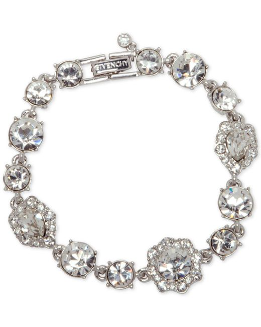 Givenchy   Metallic Stone And Crystal Link Bracelet   Lyst
